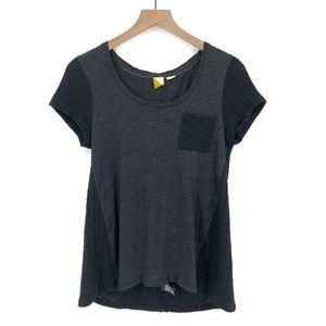 Anthropologie Paper Locket Gray Tee Shirt - Size M